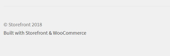 storefront footer text